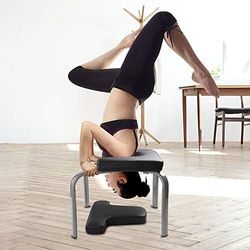 (WonderView Yoga Inversion Chair, Yoga Inversion Bench Idea for Workout, Fitness and Gym)