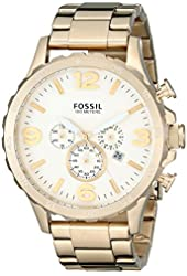 Fossil Men's JR1479 Nate Chronograph Stainless Steel Watch - Gold-Tone