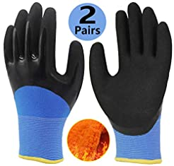 Cold Weather Work Gloves 2 Pairs, Polar ...
