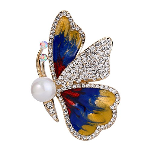 Mother Of Pearl Butterfly Pin - 5