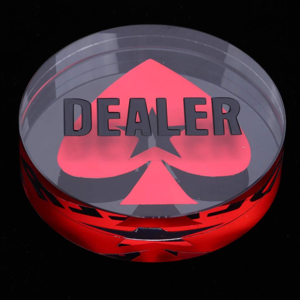SM SunniMix Crystal Dealer Poker Buttons Transparent with Black Words Heart Pattern