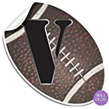 Wall Letters Football Letter Stickers Alphabet Initial Vinyl Sticker Kids Decals Childrens Room Decor Baby Nursery Boys Bedroom Decorations Childs Names Personalized Decal Graphics Sports Balls Girls