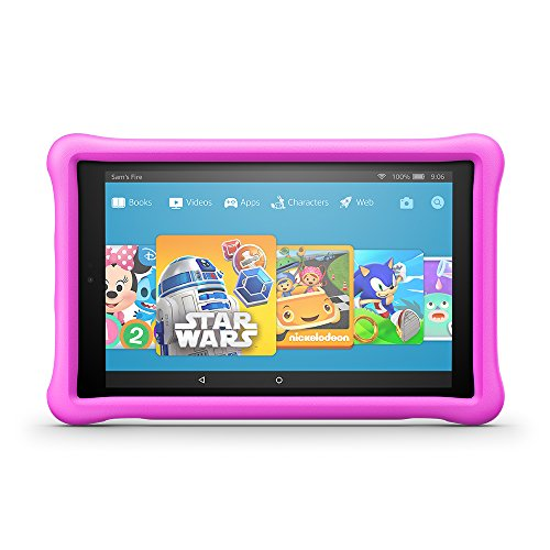 "Fire HD 10 Kids Edition Tablet, 10.1"" 1080p Full HD Display, 32 GB, Pink Kid-Proof Case by Amazon"