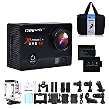 Campark ACT74 Action Cam 16MP 4K/1080P WiFi Waterproof Sports Camera 170° Ultra Wide-Angle Len with SONY Sensor, Mounting Kits and Portable Package