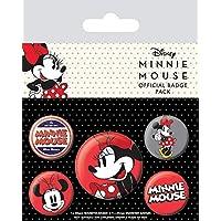 Disney Minnie Mouse-Paquete de chapas, multicolor, 10 x