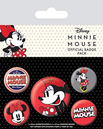 Merchandiseonline Minnie Mouse - 5 Piece Button / Pin / Badge Set