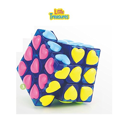 Little Treasures Stickerless Blue Love Cube Adjustable corner cutting tension Cube 3X3X3 Puzzle