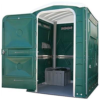 "PolyPortables PPEAU-06, Enhanced Access Portable Restroom, Green, 61""L x 61""W x 86-1/2""H"