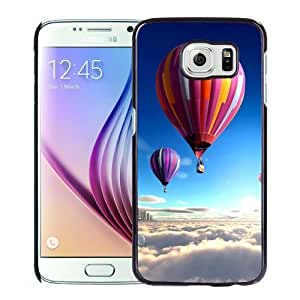 New Personalized Custom Designed For Samsung Galaxy S6 Phone Case For Colorful Hot Air Balloons Over The Clouds Phone Case Cover