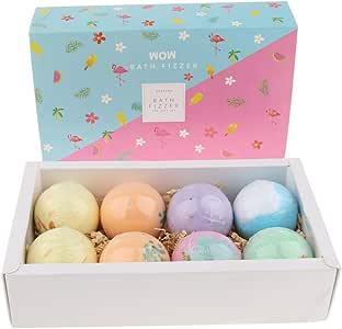 IPOTCH 8 Pieces Bath Bomb Gift Set, Fizzy Spa Moisturizes Dry Skin, Bubble Baths, Gift Kit for Girlfriends, Women, Moms/Moisturizing Dry Skin