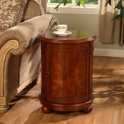 Amazon.com: A Round Birch Drum End Table is a Great way to Enhance ...