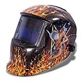Sun YOBA pro Solar Auto Darkening Welding Helmet Arc Tig Mig Welding Mask Beauty+Fire #9