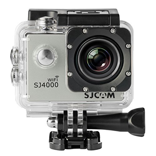 SJCAM SJ4000 WIFI Action Camera FHD 1080P H.264 12MP 170 Degree Wide Angle Lens DV with Waterproof Case and Accessories for Diving Driving Biking SILVER