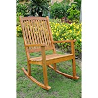 International Caravan TT-RO-03-STN-IC Furniture Piece Acacia Large Rocking Chair