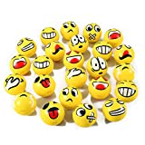Set of 24 Face Emoji Stress Balls Bulk - Soft Foam Stress Ball Squeeze Toys for Kids (3 inches)