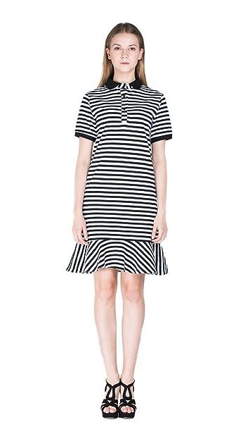 Amazon.com: Eyekepper – Vestido a rayas de manga corta para ...