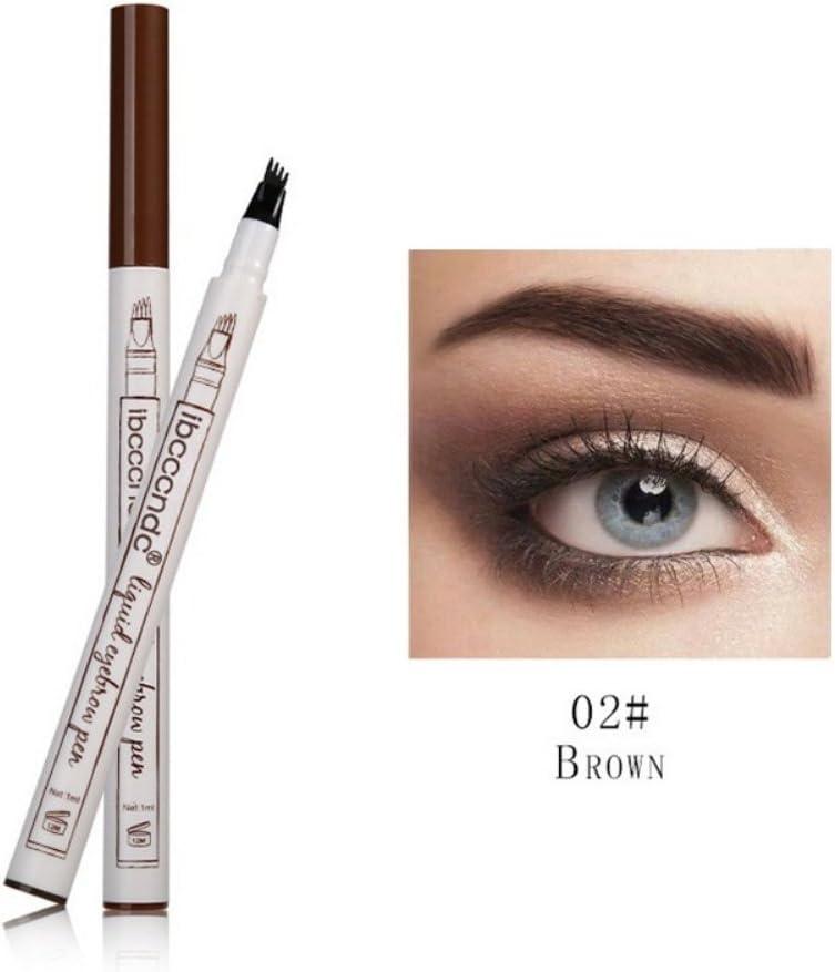 ROPALIA 2 colores Cejas tatuaje pluma larga duración impermeable lápiz de cejas Tinte Tinte