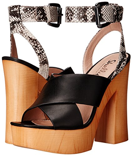 Women's London Black Platform Lessty Shellys Sandal Rq67Y