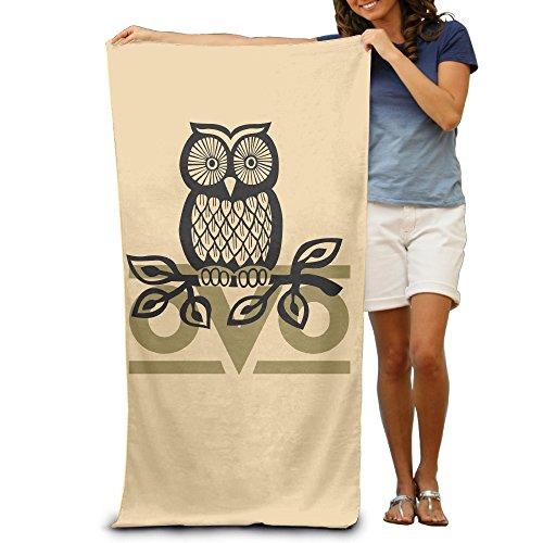 Lcyc Owl Ovo Adult Vibrant Beach Or Pool Bath Towel 80Cm 130Cm