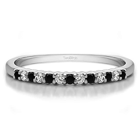 1Ct Size 3 To 15 in 1//4 Size Intervals Sterling Silver Gents Wedding Band White Sapphire