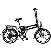 Enzo Ebike 2018 Folding Electric Bicycle - 7 Speed Full Electronic Throttle or Variable Assist