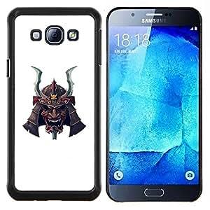 Dragon Case - FOR Samsung Galaxy A8 A8000 - Japanese samurai white mask scary - Caja protectora de pl??stico duro de la cubierta Dise?¡Ào Slim Fit