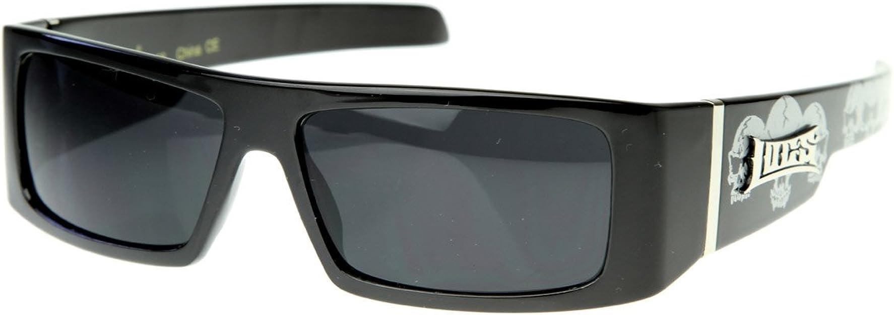 Matte Black LC93 LOCS Biker Sports Gangsta Mens Shield Designer Sunglasses