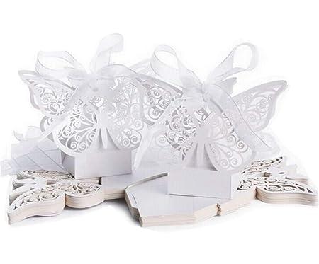 Rzctukltd 50pcs Ivory Big Butterfly Wedding Favours Luxury Wedding