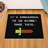 """It's Dangerous To Go Alone 18"""" x 24"""" Doormat Welcome Floormat"""