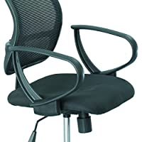 Safco Products 3396BL Loop Arms Set for use with Vue Mesh Extended Height Chair 3395, sold separately, Black