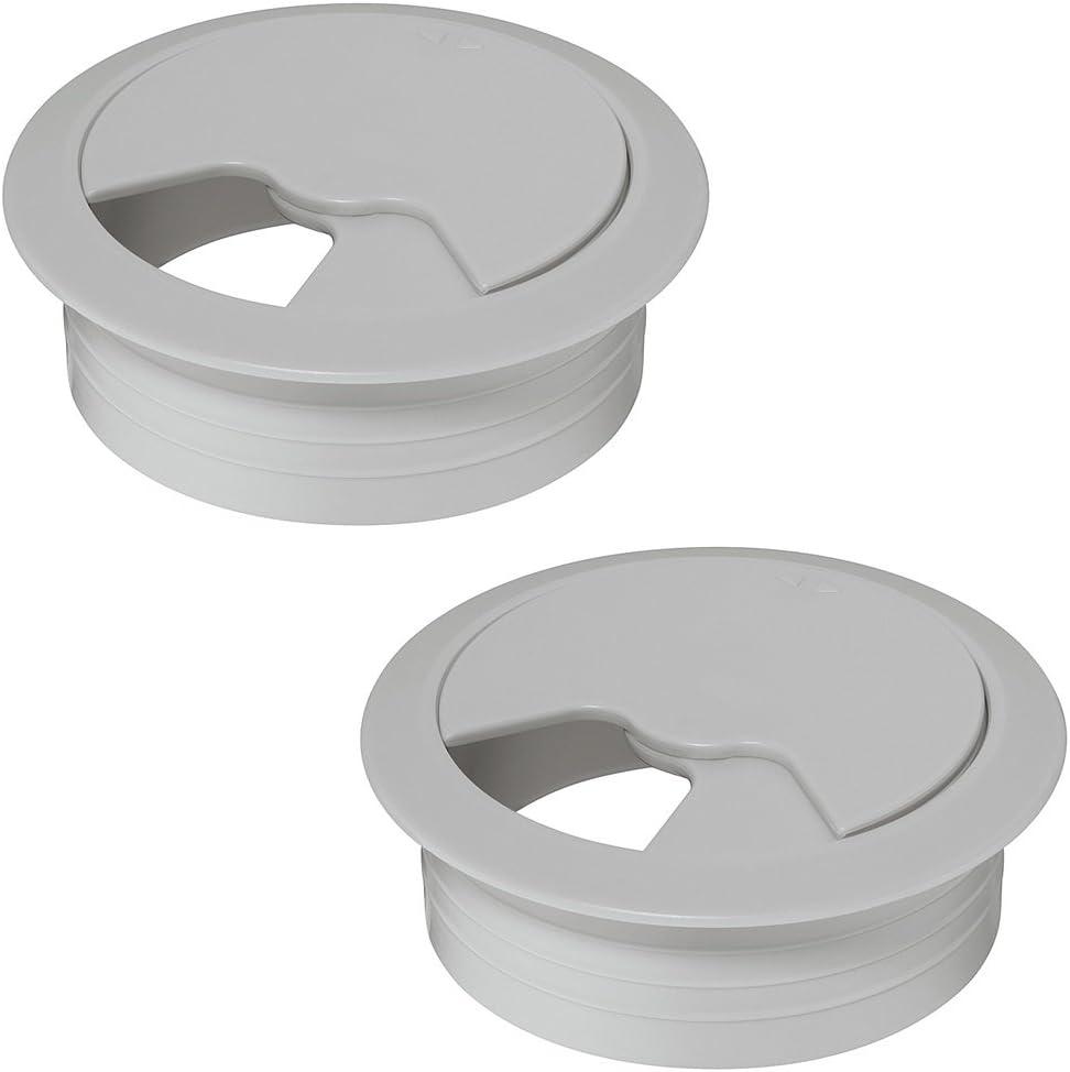 Kunststoff Kabeldurchlass Kabeldurchführung Kabelführung Kabeldose Schwarz Grau