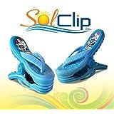Beach Towel Clips, pegs, clamps, épingles, pinces à serviette de plage, SolClip Canada, Flip Flop Mexican
