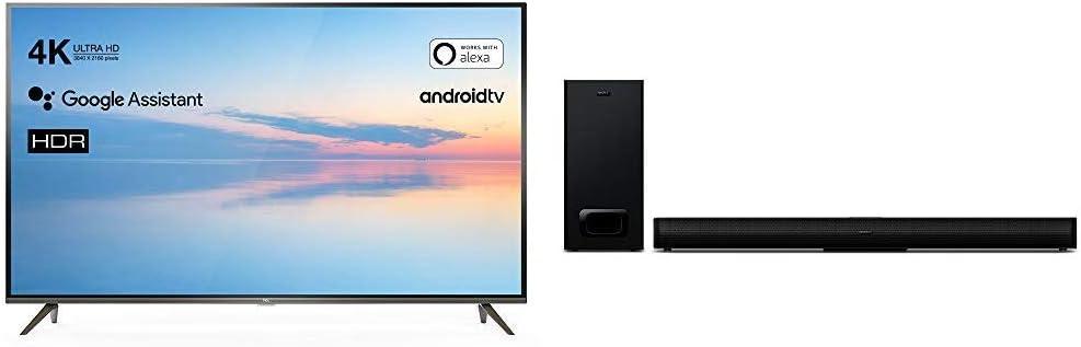 TCL 50EP640 Televisor 126 cm (50 Pulgadas) Smart TV + Barra de Sonido TCL TS5010 (80 cm) para TV con subwoofer: Amazon.es: Electrónica