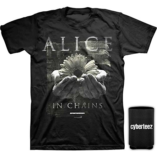 Alice In Chains Daisy Hands Gift Of Life Men's T-Shirt + Coolie - Daisy Men Chain