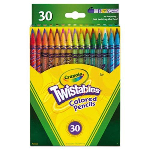 Crayola Twistables Colored Pencils, 30 Assorted Colors/Pack (CYO687409) ()