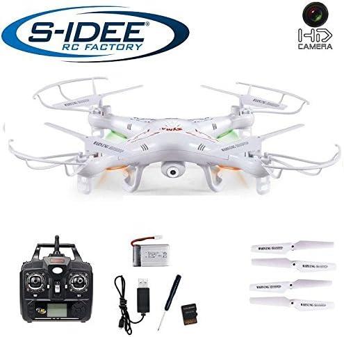 S de Idea 01541cuadricóptero X5C + 4baterías Investigadores Syma X5C HD cámara con grabación de sonido con motor de función de parada & batería de Warner, 360° Flip sucesor, f
