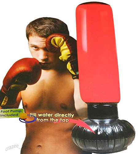 Inflatable Punching Tower Boxing Punching Bag Pillar 63'' W/ Foot Pump NEW by Park Avenue