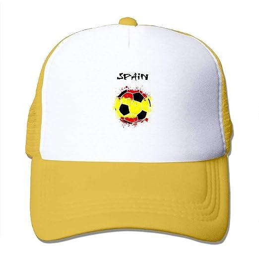 4689408c Amazon.com: Spain Flag Soccer Adult Snapback Mesh Hat Stylish ...