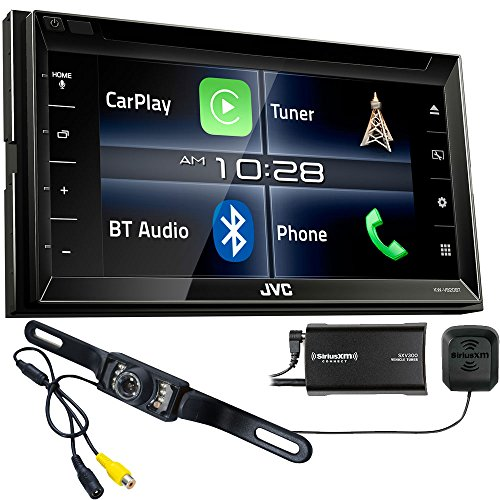 JVC KW-V820BT compatible with Apple CarPlay Receiver with Sirius XM Tuner & Back Up Camera