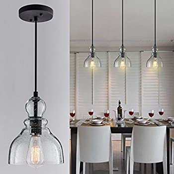 Kitchen Island Crystal Pendant Lighting One Light Elegant Chandelier