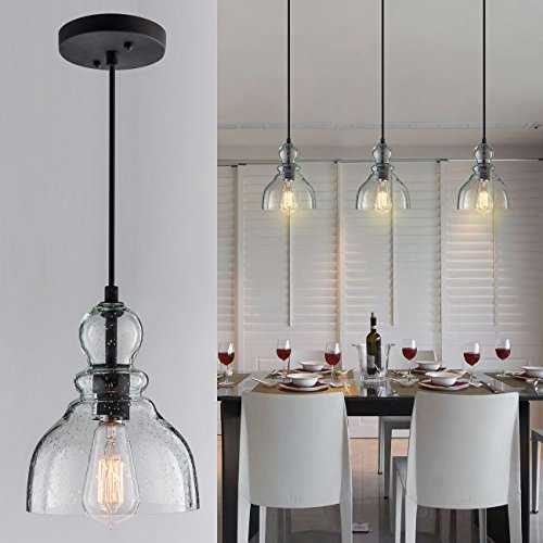 Glass Pendant Foyer Light