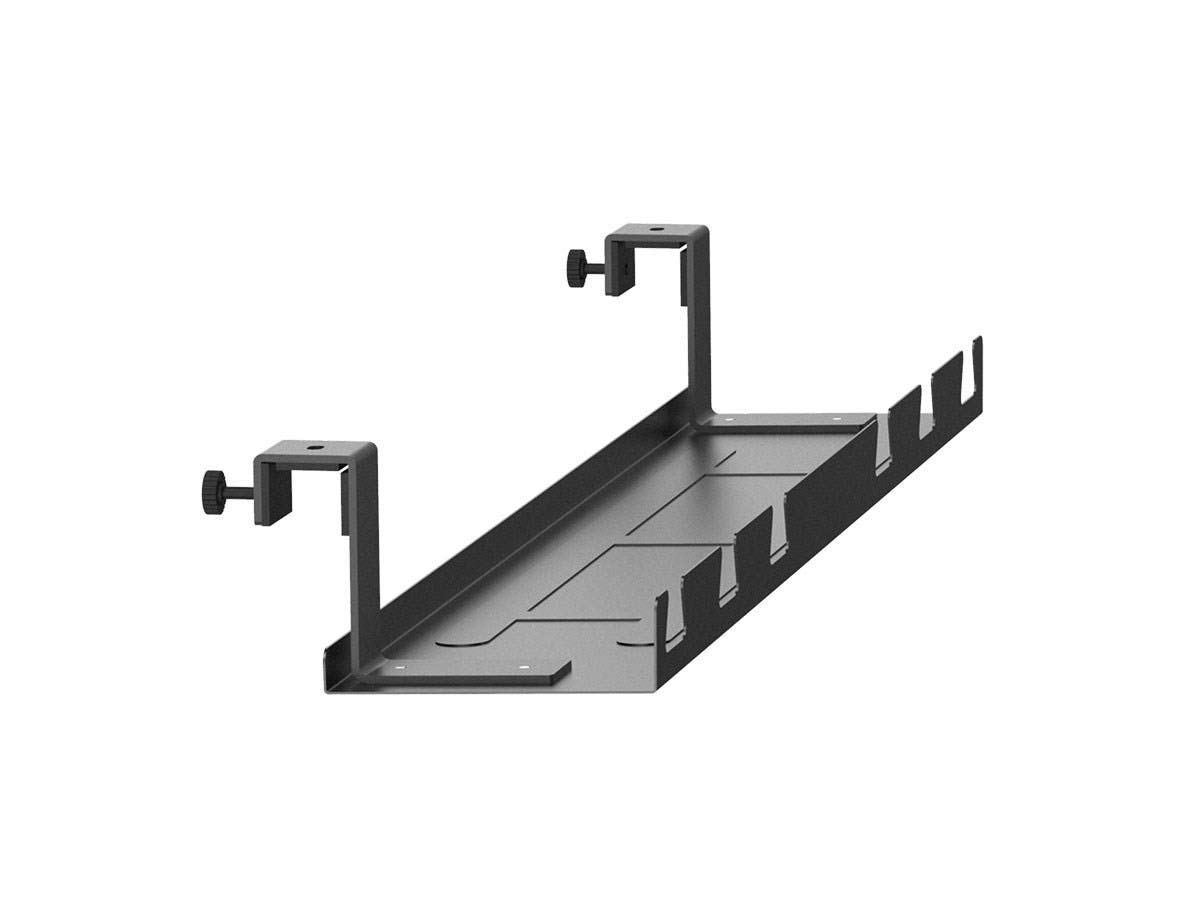 Monoprice Cable Tray Organizer - Black | Under Desk Cord Management, Ideal for Work Computer Tables, Home and Office Sit-Stand Desks - Workstream Collection by Monoprice