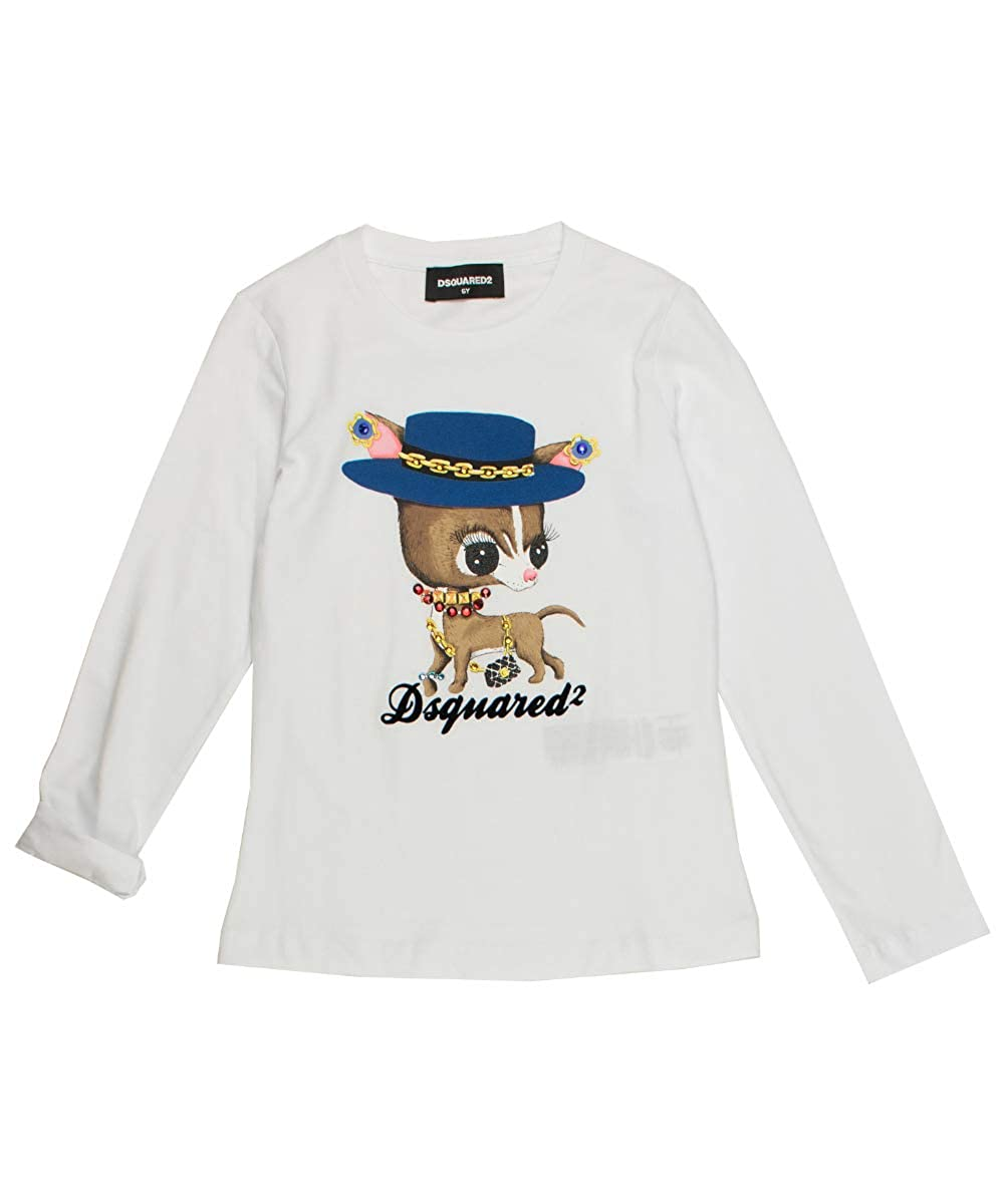 Weiss Dsquared2 Langarmshirt