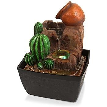 Amazon.com: SereneLife 3-Tier Desktop Electric Water Fountain ...