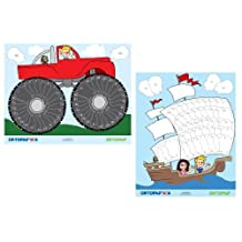 Ortopad Boys Eye Patching Reward Posters: 1 Pirate Ship Poster, 1 Monster Truck Poster by Ortopad