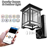 Lamp Camera Outdoor WiFi Security Wall Light with Motion Sensor Smart Exterior Surveillance System for Home 1080P HD Video Front Porch Lights Can Work with Amazon Alexa