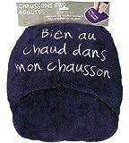 Maxi Chausson adulte - Bien au chaud - couleur Aubergine