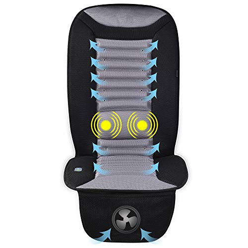 SNAILAX Cooling Car Seat Cushion with Massage, Car Seat Cooling Pad,Air Conditioned Seat Cover with Car Fan for Car Truck Home and Office use SL-252 ()