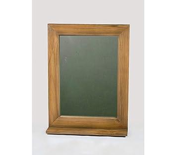 Miroir de Salle de Bain en Teck 60 x 80 cm avec Tablette ...