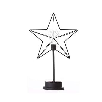 Lámpara de mesa retro, funciona con pilas, iluminación decorativa ...
